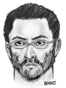 Police have released a sketch of the suspect. Photo by AP